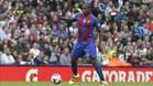 Marlon Santos en un partido del FC Barcelona durante la pretemporada