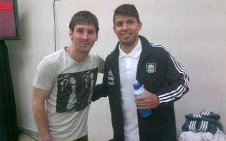 Messi y Ag�ero comparten habitaci�n cuando juegan con la selecci�n argentina