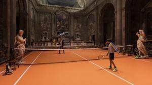 Pista de tenis en la Iglesia de San Paolo Converso de Milán
