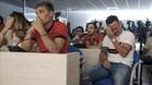 Roque Mesa no pudo reprimir las lágrimas al ver el vídeo sobre su trayectoria en la UD Las Palmas
