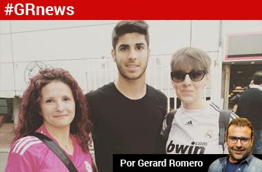 Tres jugadores del Espanyol, en la fiesta de la Champions del Madrid