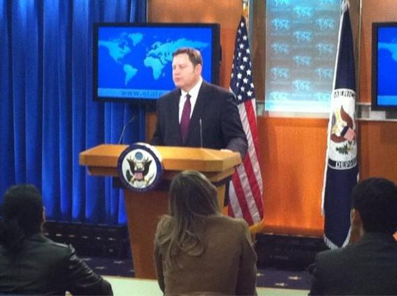 Mike Hammer, en plena rueda de prensa | Foto: @lorenzomila