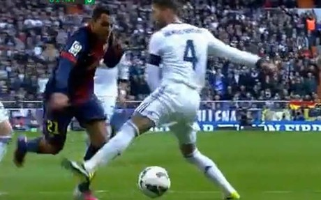 1362244564970 Should Barcelona have had a second half injury time penalty at Real Madrid?