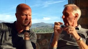 Jordi y Johan Cryuff, en El Montanyà