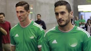 Fernando Torres y Koke participaron en un acto publicitario