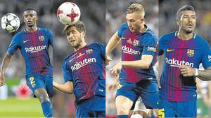 Nelson Semedo, Sergi Roberto, Deulofeu y Paulinho