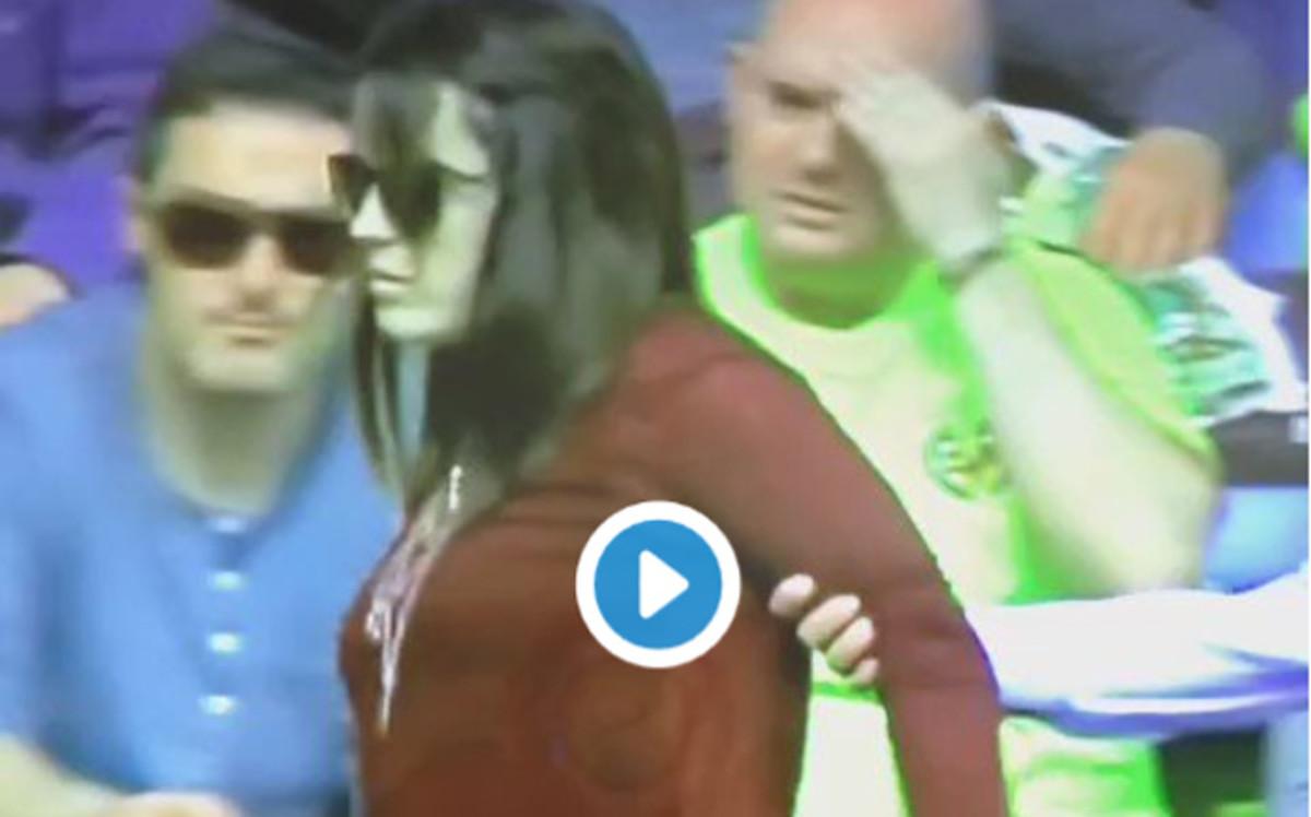Leo Messi dej� groggy de un balonazo a una aficionada en el Villarreal - Bar�a