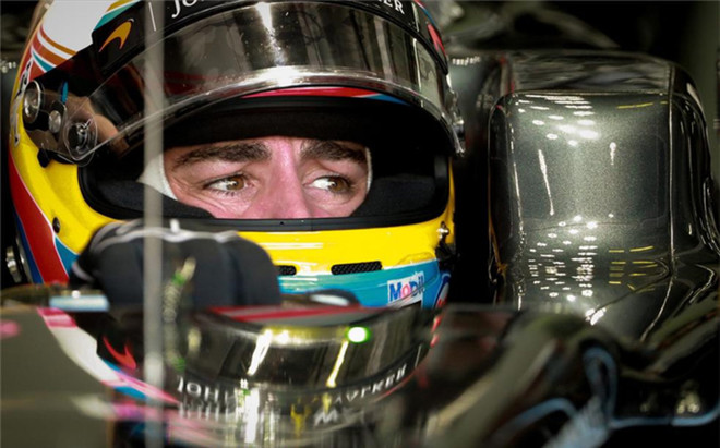 Alonso, durante los entrenamientos en Malasia
