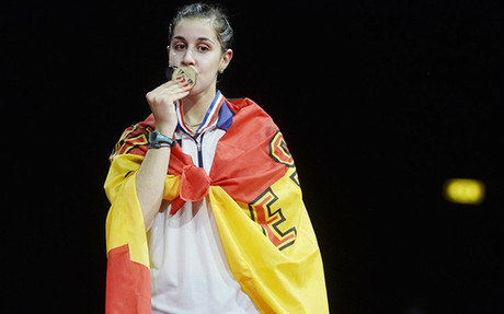 Carolina Mar�n, campeona del mundo de b�dminton