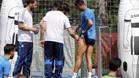Cristiano tranquiliza a la afici�n del Madrid