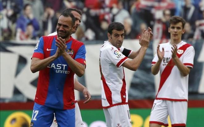 Juanfran jug� ante el Rayo su �ltimo partido con la camiseta del Levante