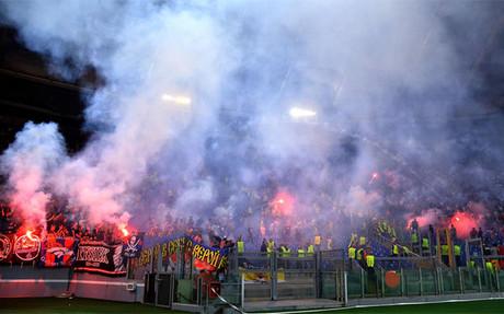 Los incidentes entre aficionados de la Roma y el CSKA de Mosc� el 17 de septiembre