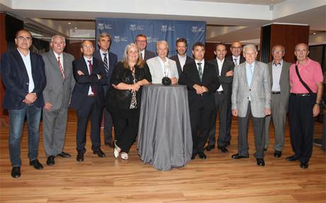 Los integrantes del jurado, entre los que se encuentra el secretario general de l'Esport de la Generalitat Ivan Tubau
