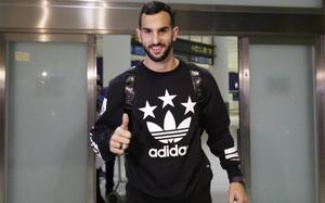 Montoya, a su llegada a Sevilla