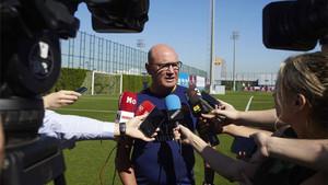 Xavi Llorens, entrenador del Barcelona femenino