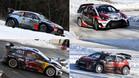Los cuatro coches protagonistas del Mundial WRC