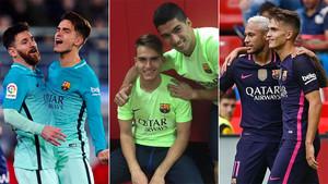 Denis Suárez ha encajado con Messi, Luis Suárez y Neymar