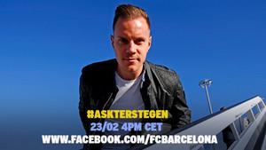 Marc-André ter Stegen estuvo con los seguidores del FC Barcelona a través de Facebook
