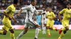 Cristiano Ronaldo, en acción en el partido de la primera vuelta de la Liga Santander 2016/17 entre Real Madrid y Villarreal