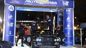 Podio final del Rally Moritz Costa Brava