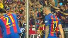 Alcácer celebró su gol con rabia