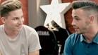 �lvaro V�zquez, junto a su hermano Ra�l poco antes de su actuaci�n en 'La Voz'