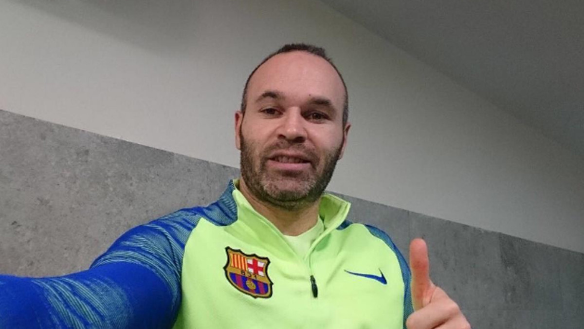 Barcelona midfielder Andres Iniesta s message on his recovery
