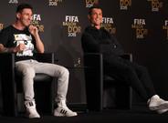 Leo Messi y Cristiano Ronaldo durante la rueda de prensa previa a la gala del Bal�n de Oro 2015
