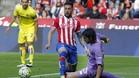 Miguel Ángel Guerrero, en un partido de la última temporada con el Sporting