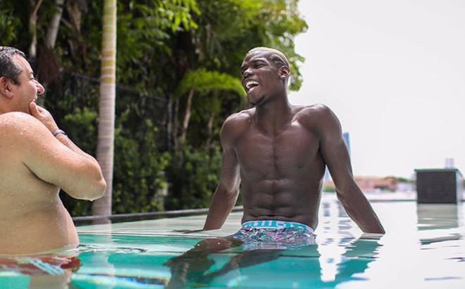Paul Pogba, este lunes en Miami con Mino Raiola