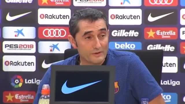 La rueda de prensa de Valverde antes del partido en San Mamés