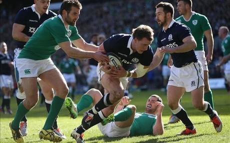 Irlanda y Escocia, en un partido del Seis Naciones del 2015