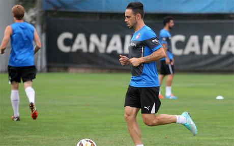 Sergio García se ejercita al margen en la Ciudad Deportiva