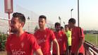 El Sporting de Gijón se entrenó este viernes
