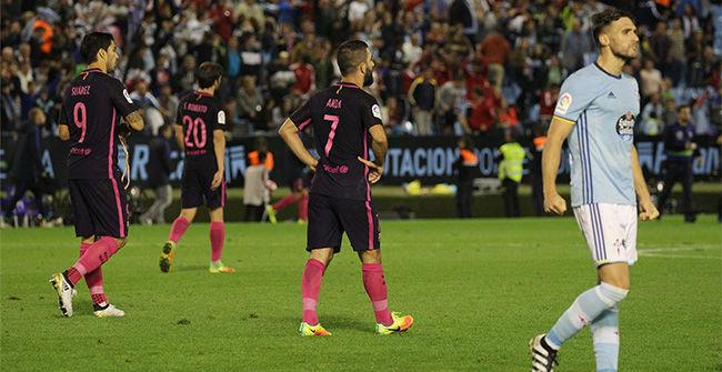 El Barça se queda a medio camino de la remontada ante el Celta