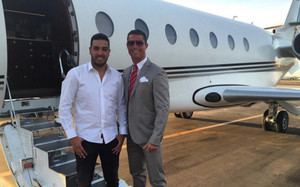 CR7 viajó a Marrakech con su jet privado