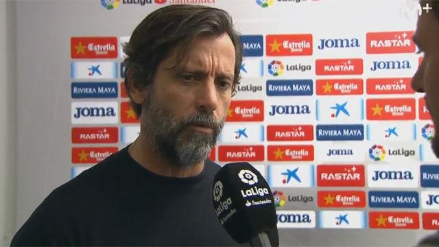 Quique se mostró satisfecho con el trabajo realizado hoy por el Espanyol