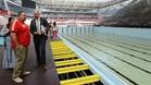 El Arena de Kazán, un moderno estadio de fútbol, será el eje de los Mundiales de Natación