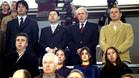 Bartomeu, Rosell y Villacampa, en el Palau durante el minuto de silencio por el 11-M
