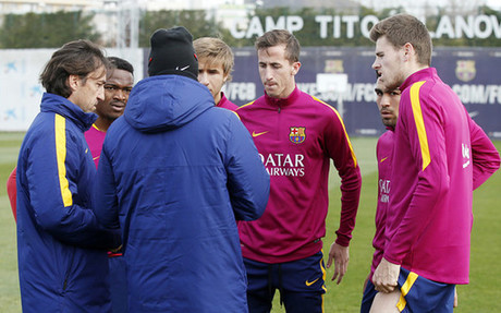 Luis Enrique se lleva a los cinco del filial a Valencia