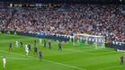 """Leve pañolada y gritos de """"Ronaldo, Ronaldo"""" en el Bernabéu"""