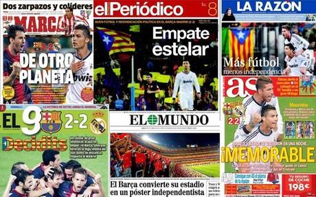 Las portadas de la prensa española