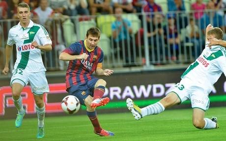 Messi volvió a golear, esta vez ante el Lechia