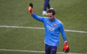 Claudio Bravo, portero del FC Barcelona