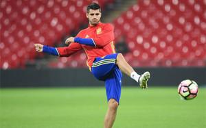 Alvaro Morata se lesionó con la selección
