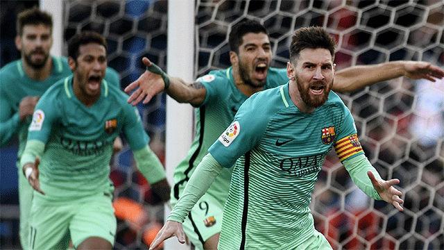 Video resumen: Locura en las celebraciones de los goles de Rafinha y Messi