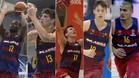 De izquierda a derecha, Atoumane Diangé, Sergi Martínez, Rodions Kurucs, Aleix Font y Stefan Peno