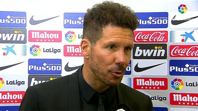 Simeone elogió el trabajo de sus futbolistas ante el Sevilla