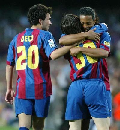 La celebracin de los goles centenarios de Leo Messi
