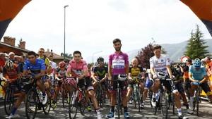 minuto de silencio del pelotón del Giro